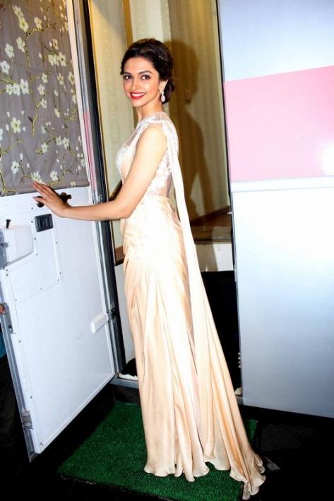 Deepika Padukone Photos In Designer White Dress