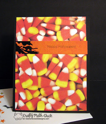 Candy Corn Inside Halloween Card by Crafty Math Chick | Newton's Boo-tiful Night stamp set by Newton's Nook Designs