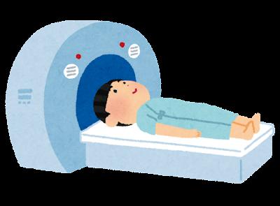 MRI・CTスキャンのイラスト(健康診断)