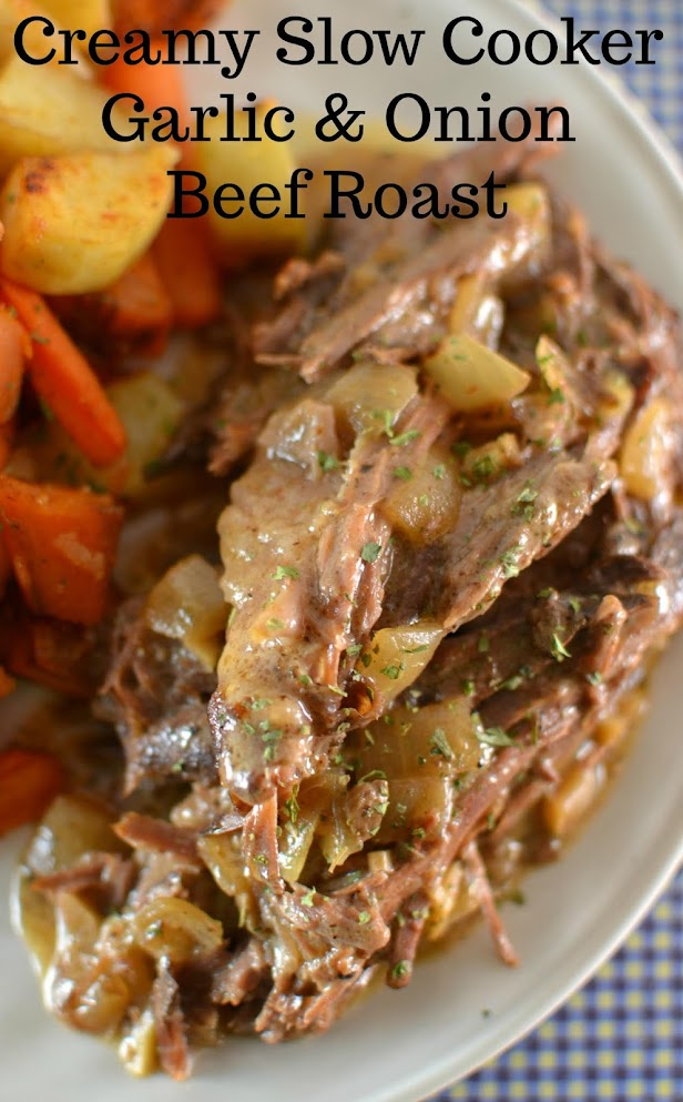 Try out this amazing comfort food dinner made in the crock pot! Serve this slow cooker meal over mashed potatoes, rice or pasta for a complete meal! This family friendly recipe is so easy!