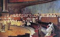 Cicerone denuncia Catilina in Senato, Cesare Maccari, 1880, Palazzo Madama