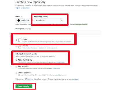 Membuat Repository GitHub