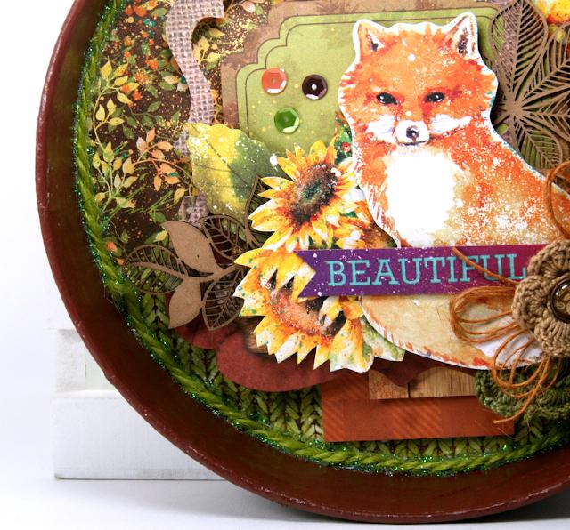 Beautiful Fox Fall Decor by Ginny Nemchak using BoBunny Dreams of Autumn