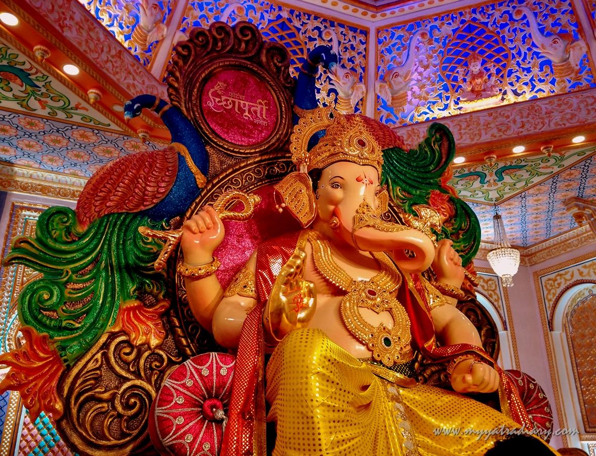 Grand decoration of Fortcha Icchapurti Ganesha, Fort Vibhag Sarvajanik Ganeshotsav Mandal Mumbai
