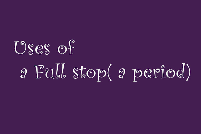 Boost your English Punctuation- Full stop uses