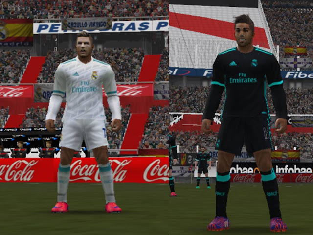 real madrid kit 2018 pes 6