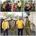 MEDAN : AMPG Dan Golkar Medan Barat Bagikan Masker Di Lapangan Merdeka