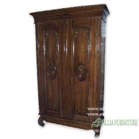 lemari pakaian jati 2 pintu gereja kecil