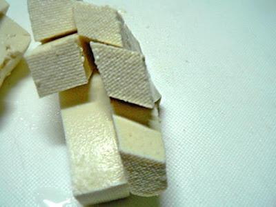 豆腐の切り口