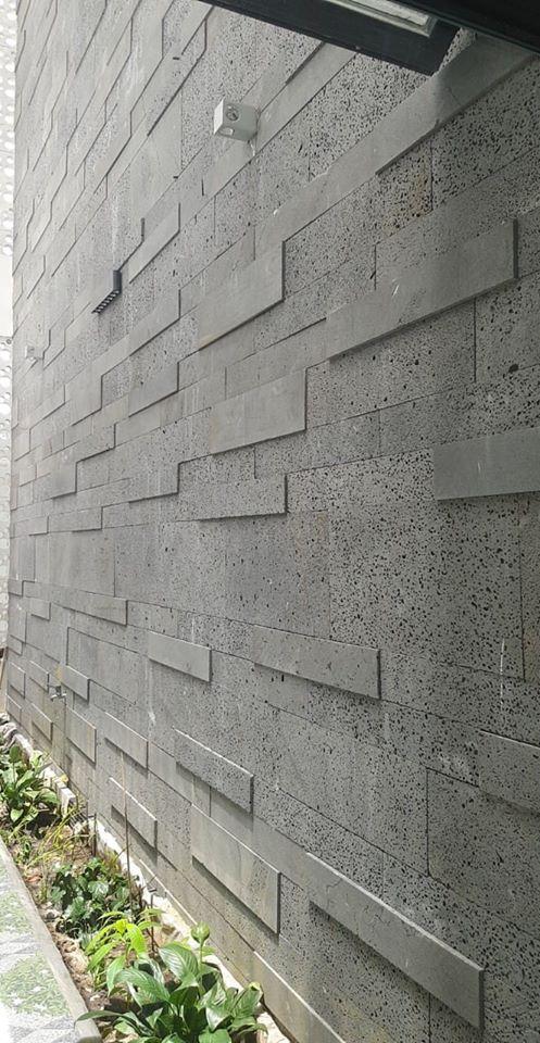 Mảng tường ốp đá ong tự nhiên