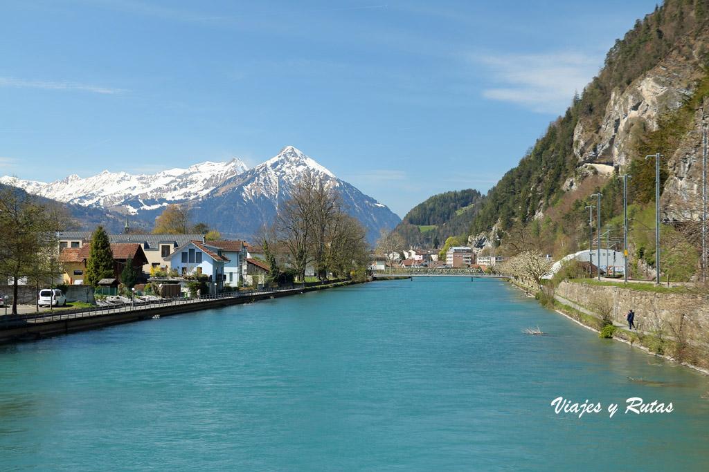 Río Aar, Interlaken, Suiza