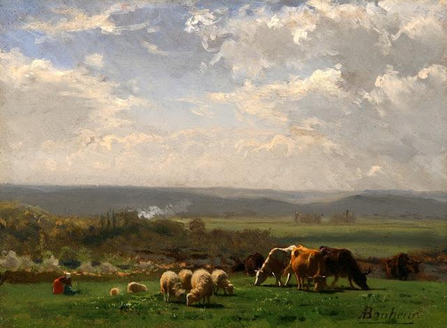 Auguste Bonheur - Pasto en Auvergne - s. XIX