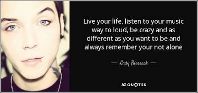 quotes about live you life: Live your life, listen to your music way to loud, be crazy and as different as you want to be and always remember you're not alone.