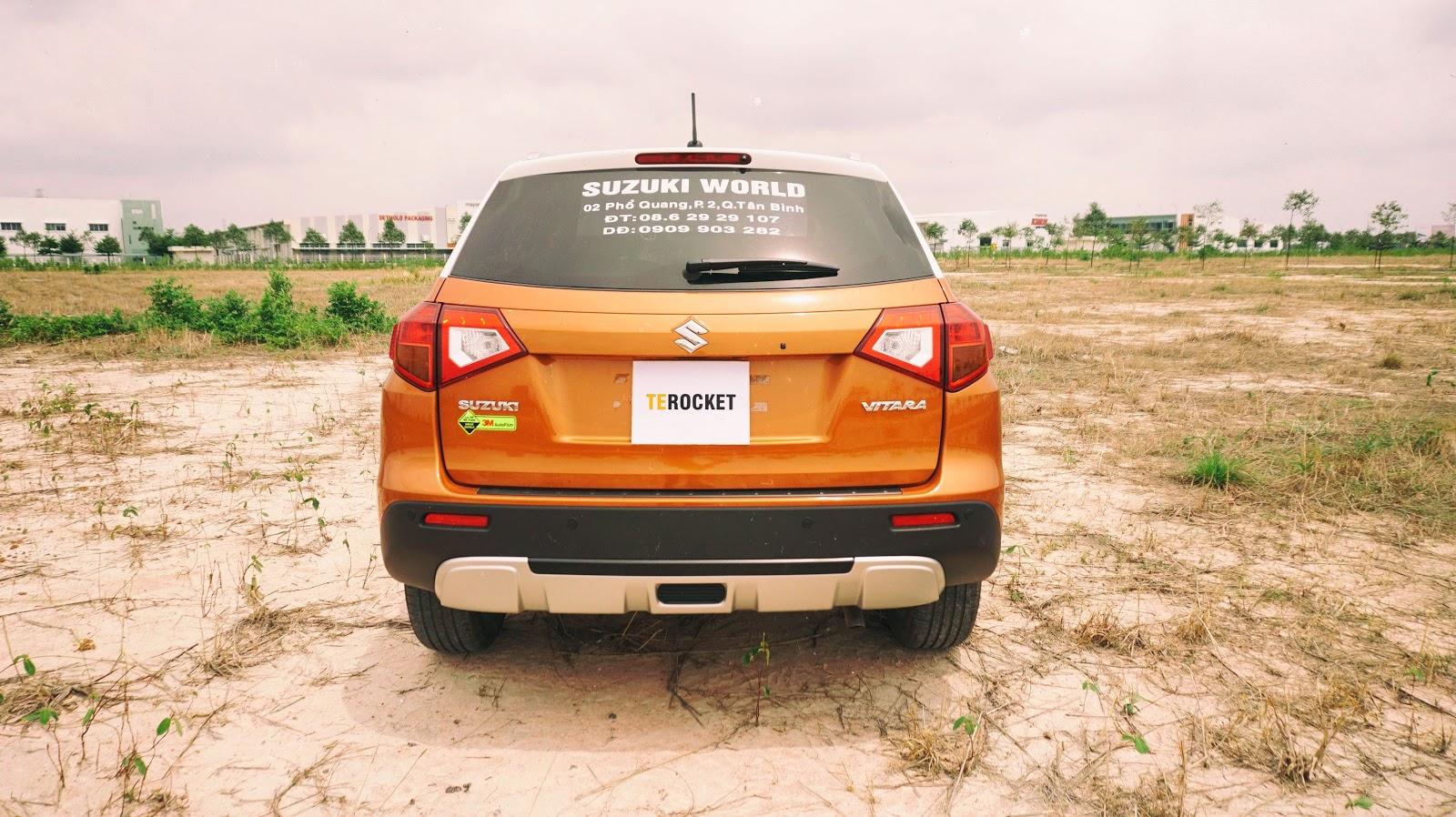 Chắc chắn, gọn gàng, nét nào ra nét đó chính là đuôi Suzuki Vitara hoàn toàn mới