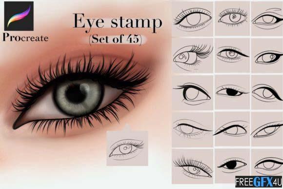 Procreate Eye Stamp Brushes