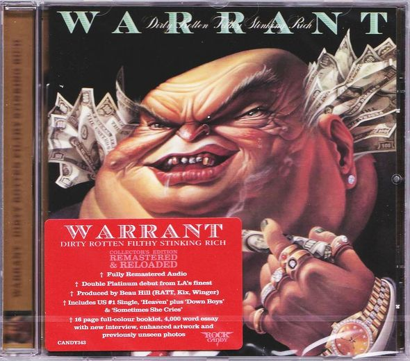 WARRANT - Dirty Rotten Filthy Stinking Rich [Rock Candy remastered] (2017) full