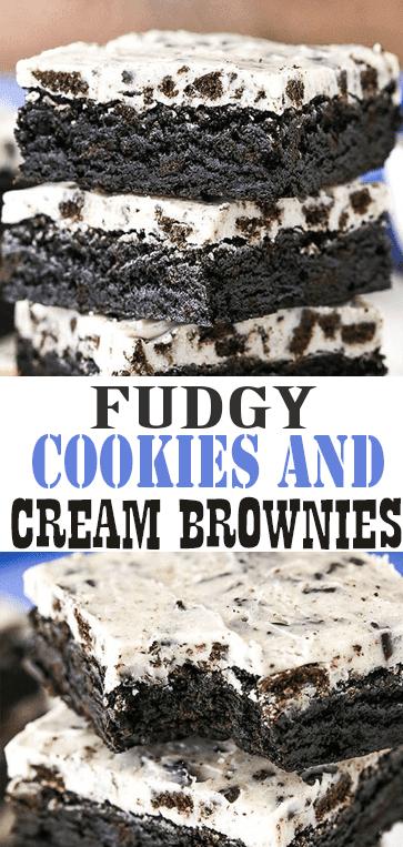 Fudgy #Cookies and Cream #Brownies