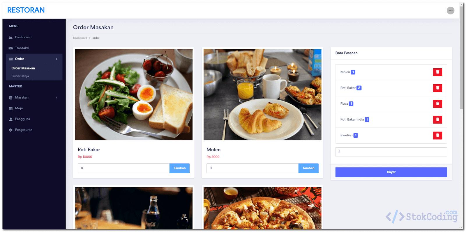 Aplikasi Restoran Berbasis Web (Codeigniter)