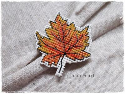 jesienna broszka