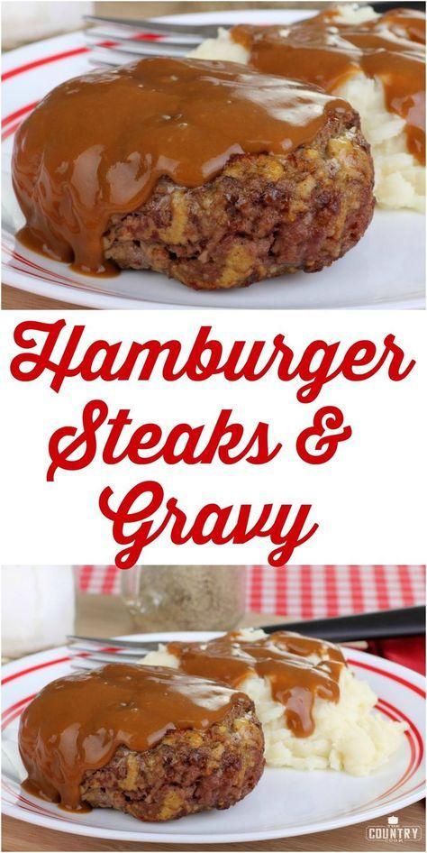 Hamburger Steaks and Gravy