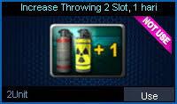 Increase Throwing 2 Slot