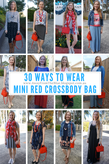 30 ways to wear a mini red crossbody bag rebecca minkoff micro avery tote | awayfromtheblue