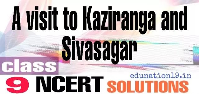 A visit to Kaziranga and Sivsagar class 9 questions answers