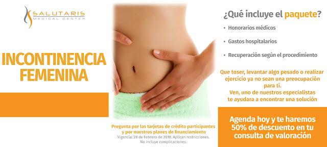 Paquete de Procedimientos Incontinencia Femenina Guadalajara Mexico