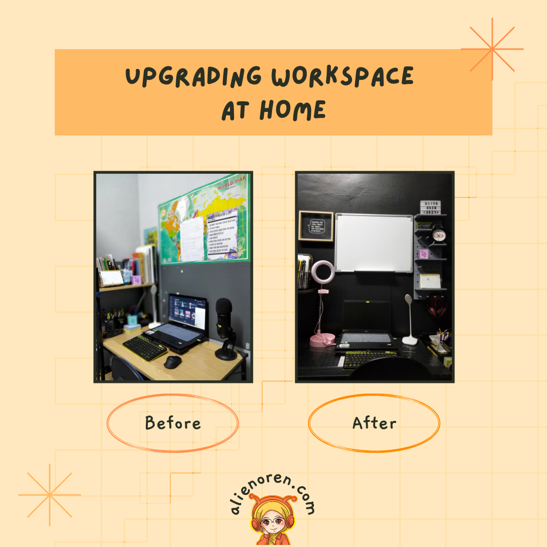 Before After workspace deco