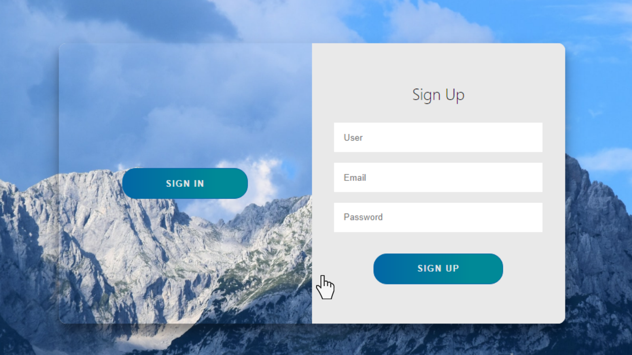 Animated Login and SignUp Form using HTML and CSS