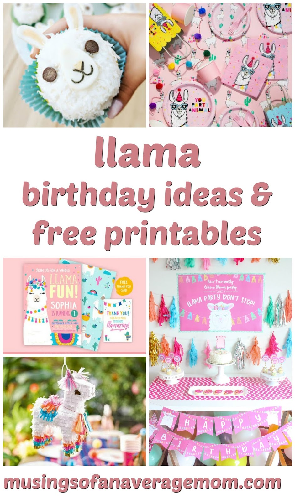 photo regarding Llama Printable identified as Musings of an Common Mother: llama birthday printables
