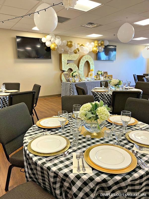 50th Wedding Anniversary Party Ideas Dimples And Tangles