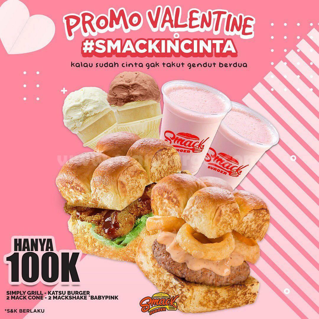 Smack Burger Promo Valentine! Paket Smack In Cinta cuma 100k