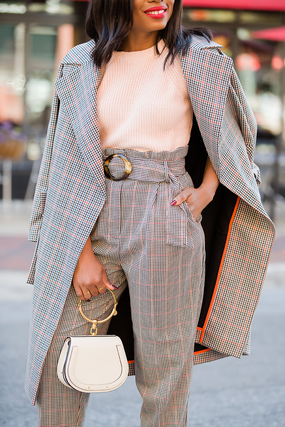 best way to wear check print for work, www.jadore-fashion.com