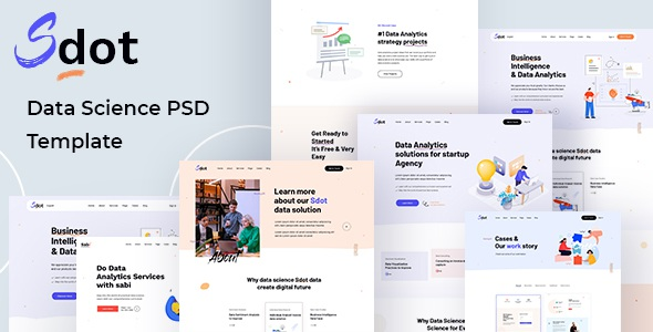 Sdot Best Data Science & Analytics PSD Template Review