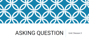 تدريبات Unit 2 lesson 3 asking question في اللغة الانجليزية للصف الثالث الفصل الاول