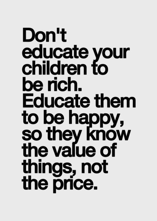the values of things family quotes