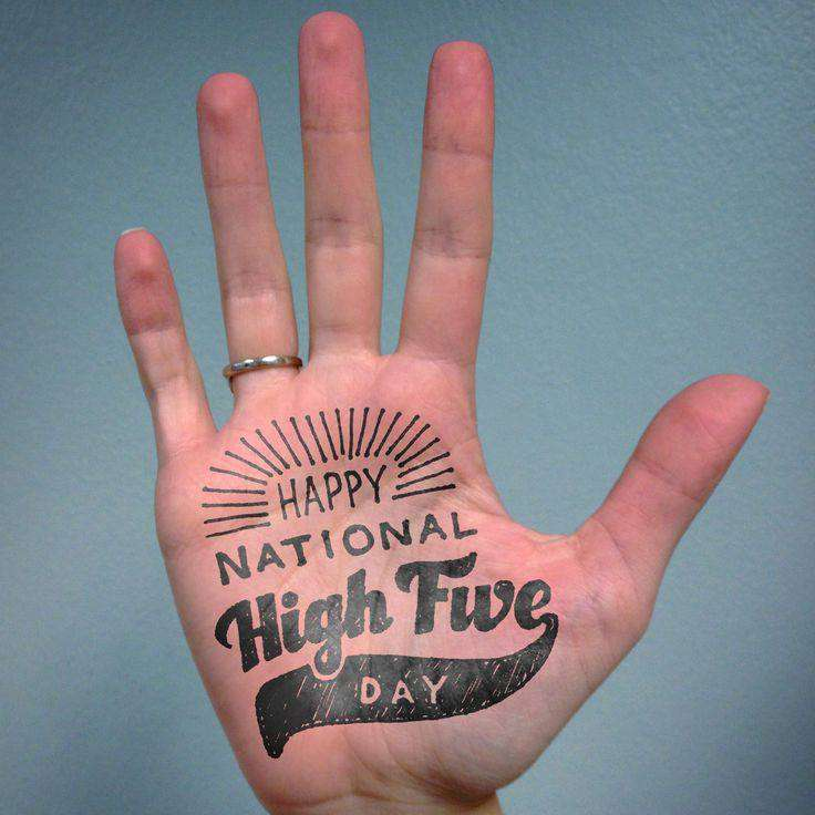 National High Five Day Wishes Lovely Pics