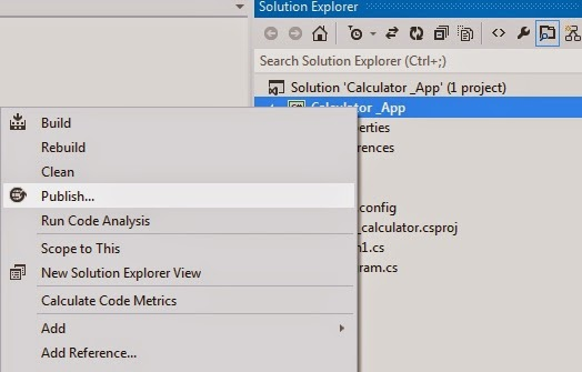How to build a Calculator in Visual Studio and Install it on