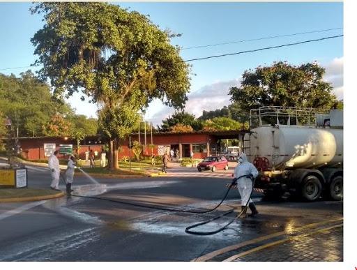 Cajati segue com o trabalho de higienização em locais públicos e de grande circulação