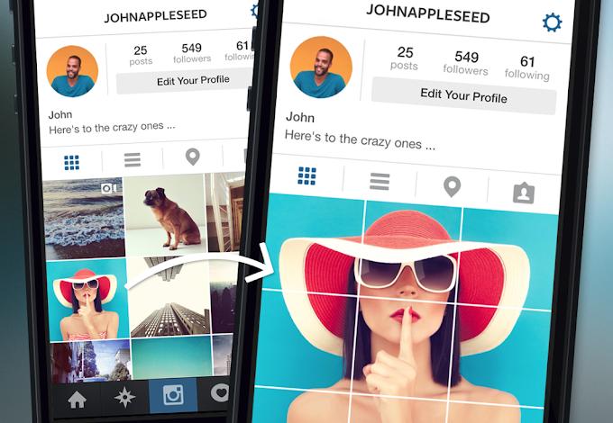 Grid Post -  Instagram Bölünmüş Fotoğraf Nasıl Yapılır ?