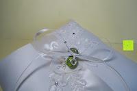 Ringe festbinden: Hochzeit Ringkissen mit Satin Bogen 21cm* 21cm