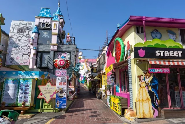 The fairy village is an hour away by train from Seoul