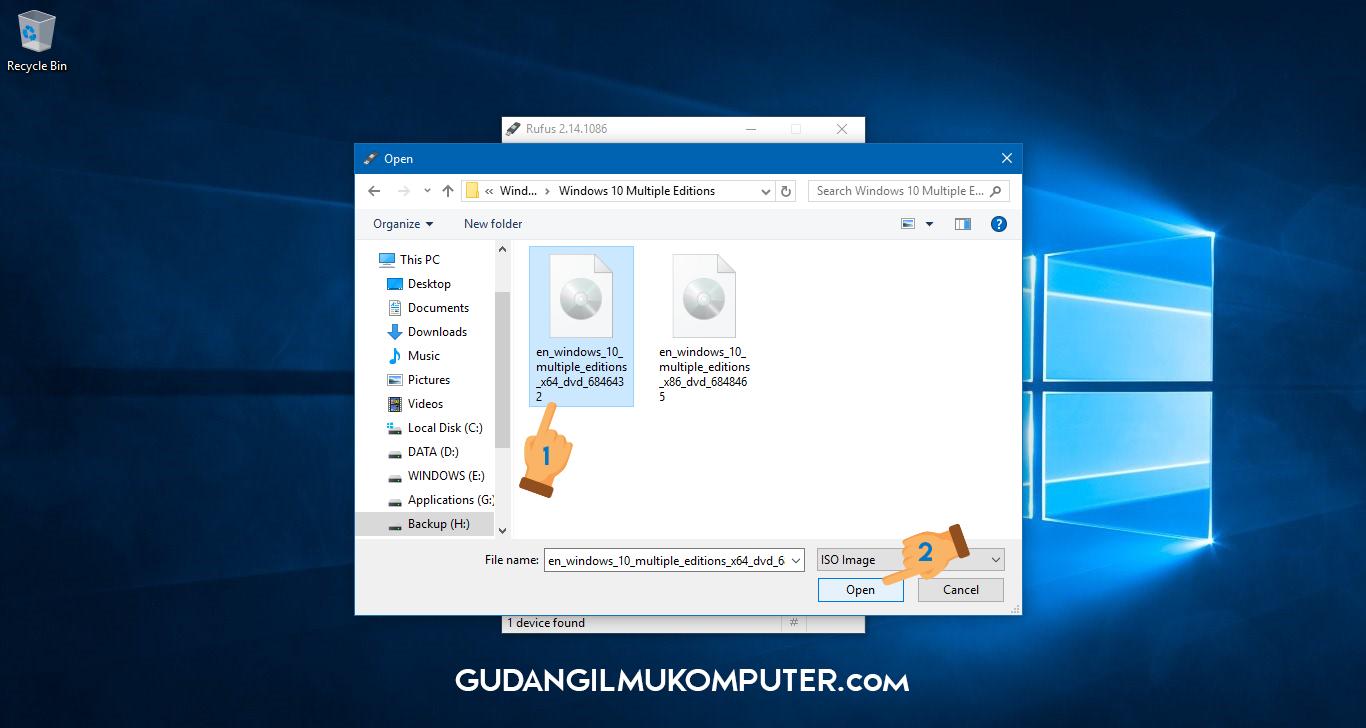 how to make bootable usb windows 7 rufus