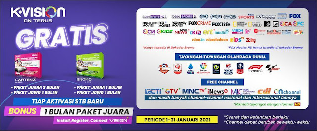 Channel MNC Group di telkom 4 melalui receiver K-Vision