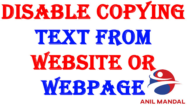 Javascript For Disable Copying Text From Website Or Webpage