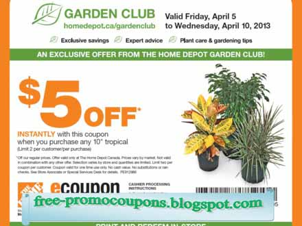 Home depot coupon printable march 2018