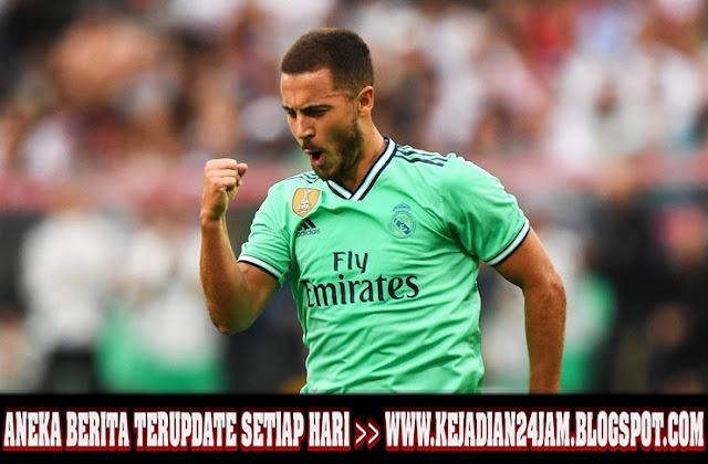 Eden Hazard Cetak Gol Perdana Di Real Madrid
