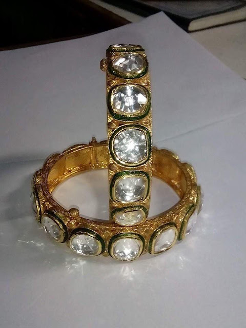 Royal Polki Necklace Bangles