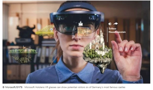 Microsoft Hololens VR glasses can show potential visitors six of Germany's most famous castles